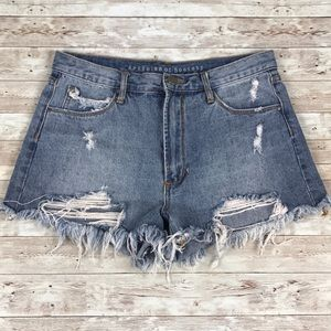 ARTICLES OF SOCIETY | Distressed Denim Shorts